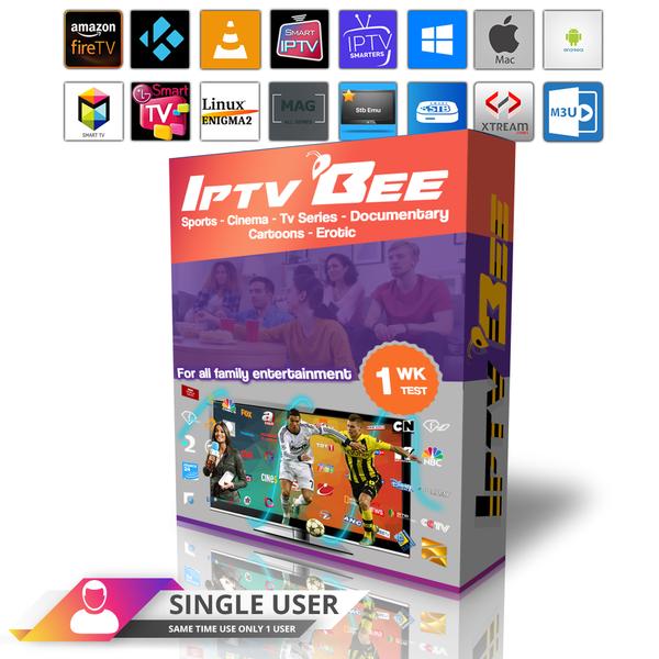1 Week IPTV Subscription